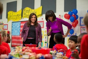 MIchelle Obama celebrating third anniversity campaign